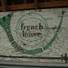 Original French Leave sign at Tippy's